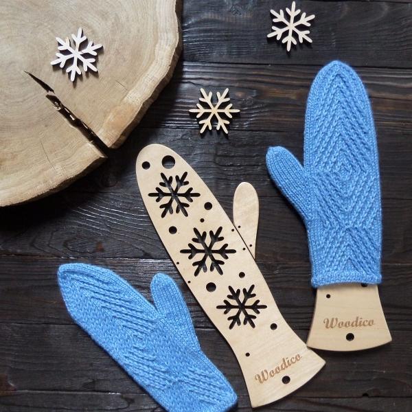 woodico.pro 13 600x600 - Wooden mitten blockers / Snowflakes