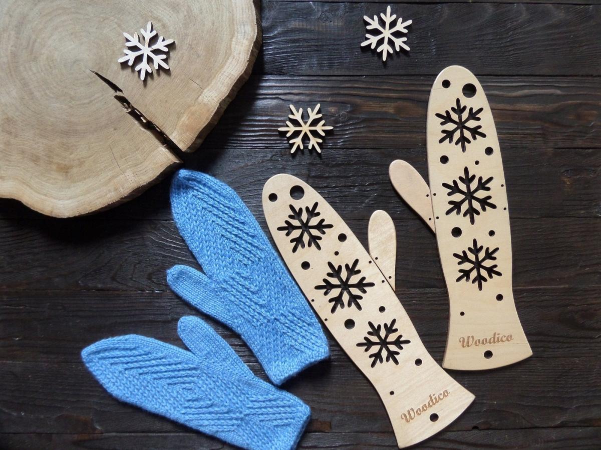 woodico.pro 14 1200x900 - Wooden mitten blockers / Snowflakes