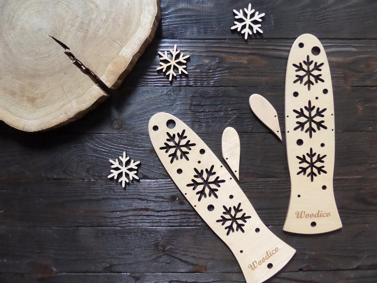 woodico.pro 15 1200x900 - Wooden mitten blockers / Snowflakes