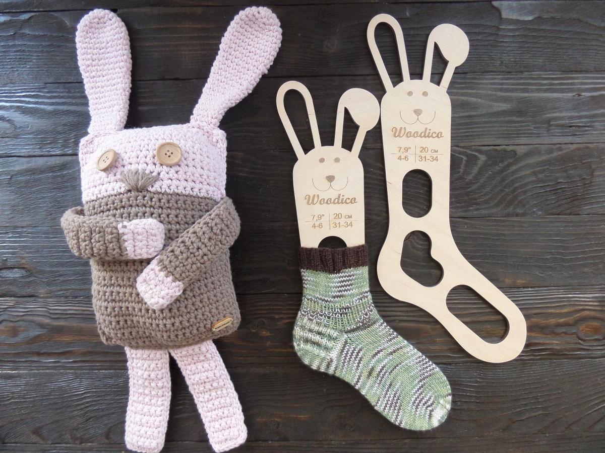 woodico.pro 21 1200x900 - Wooden baby sock blockers / Bunny