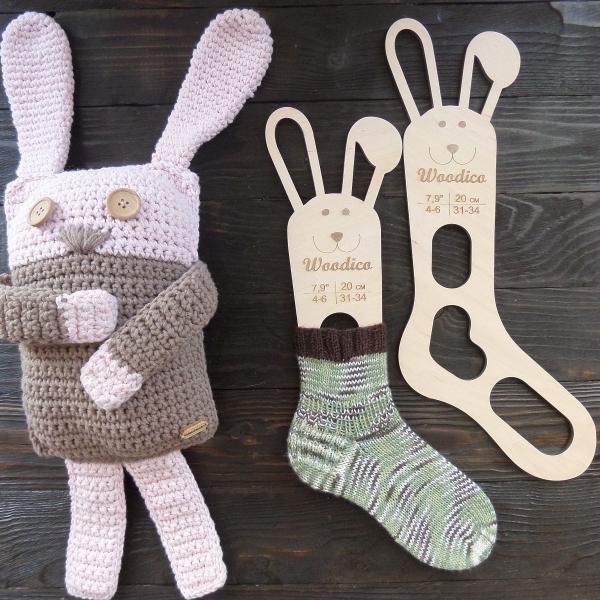 woodico.pro 21 600x600 - Wooden baby sock blockers / Bunny