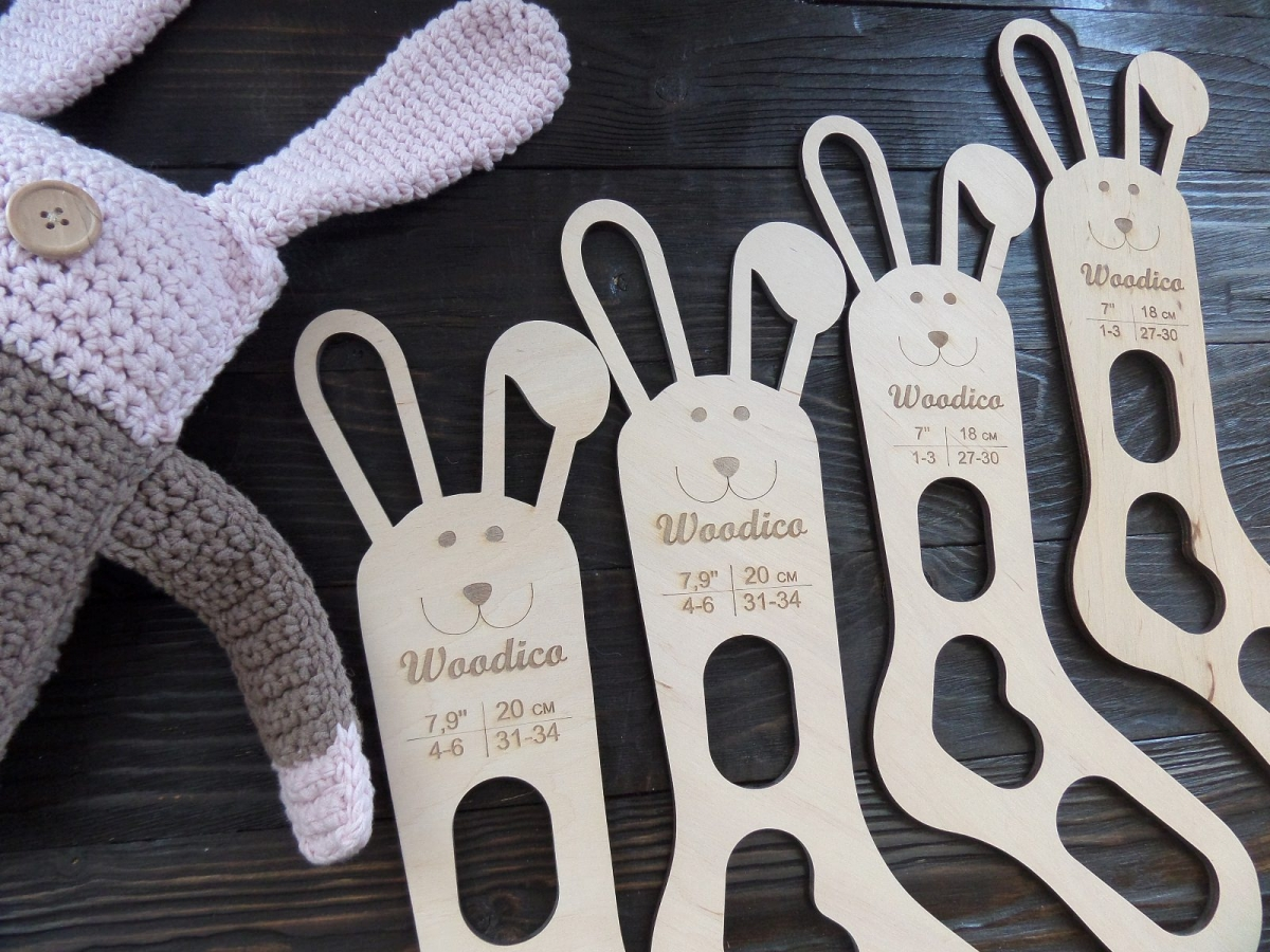 woodico.pro 23 1200x900 - Wooden baby sock blockers / Bunny