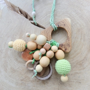 Nursing/teething necklace rattle with a toy / 018 - woodico.pro 239 300x300