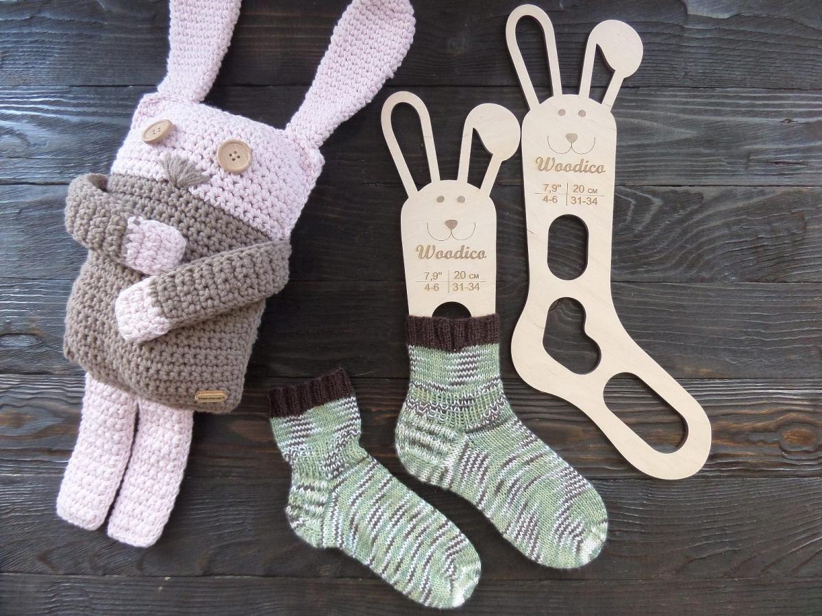woodico.pro 24 1200x900 - Wooden baby sock blockers / Bunny