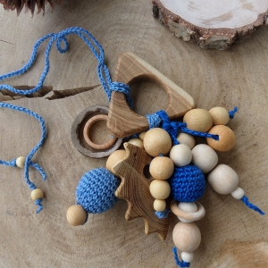 Nursing/teething necklace rattle with a toy / 016 - woodico.pro 244 300x300