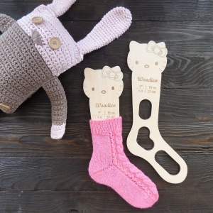 Wooden baby sock blockers / Kitty - woodico.pro 25 300x300