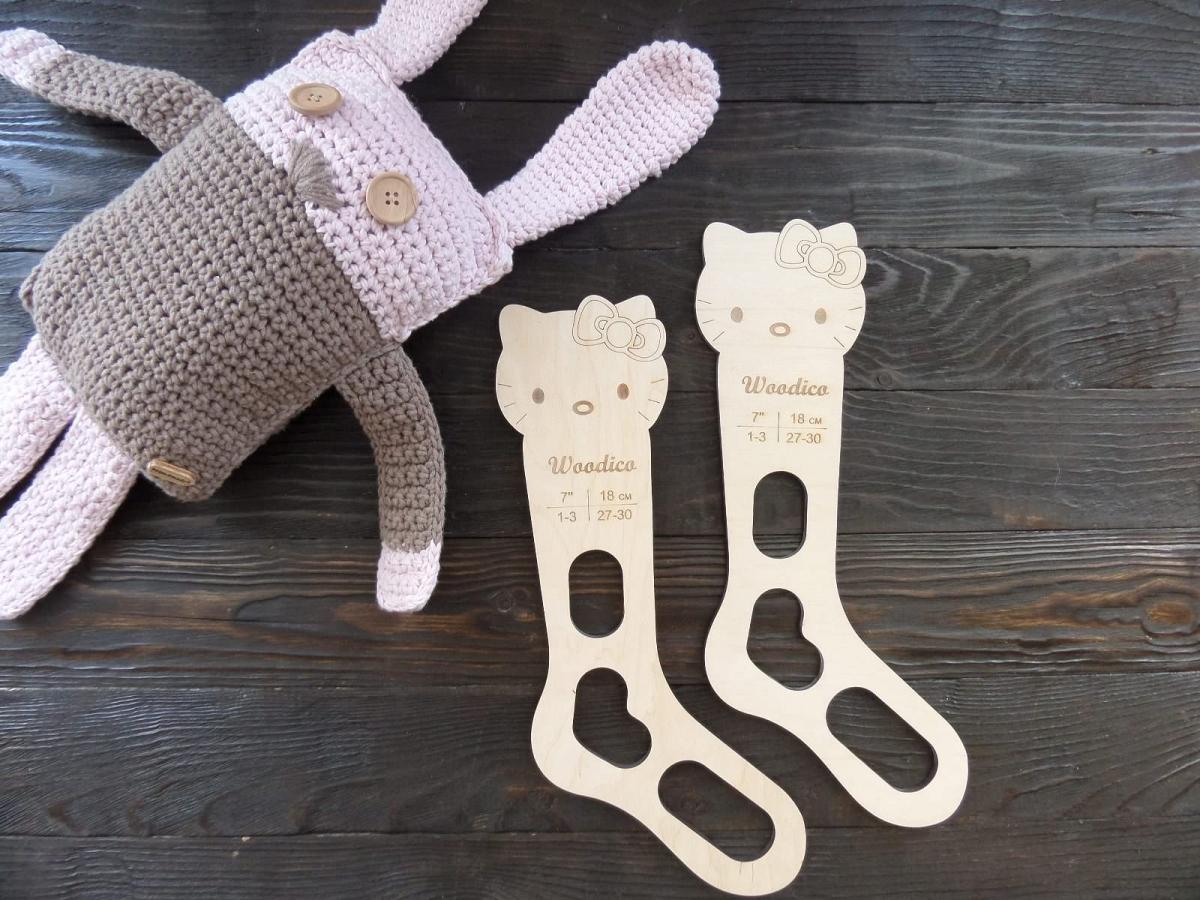 woodico.pro 28 1200x900 - Wooden baby sock blockers / Kitty