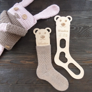woodico.pro 30 300x300 - Wooden baby sock blockers / Teddy bear