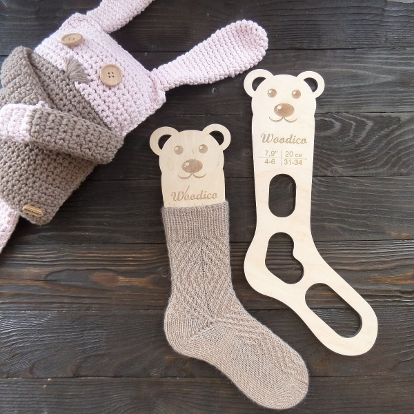 woodico.pro 30 600x600 - Wooden baby sock blockers / Teddy bear