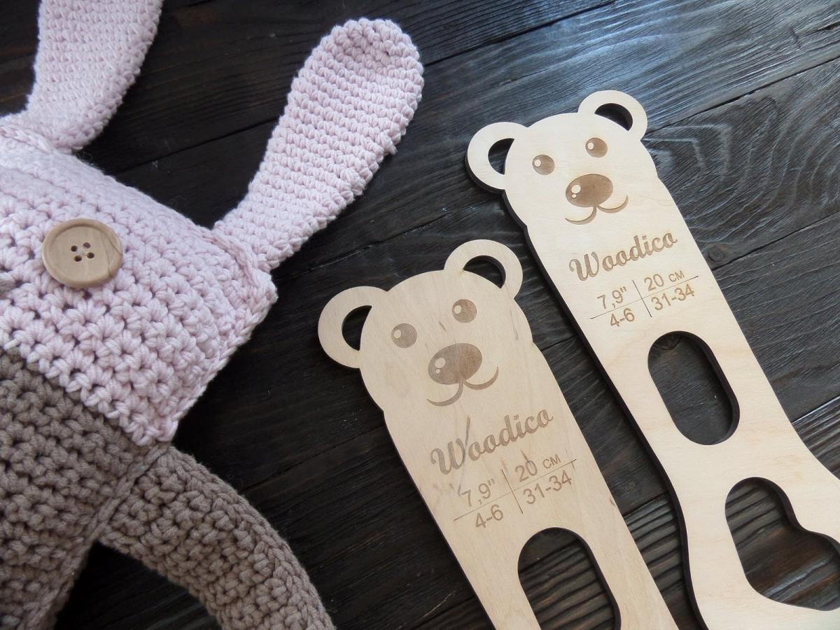 woodico.pro 31 1200x900 - Wooden baby sock blockers / Teddy bear