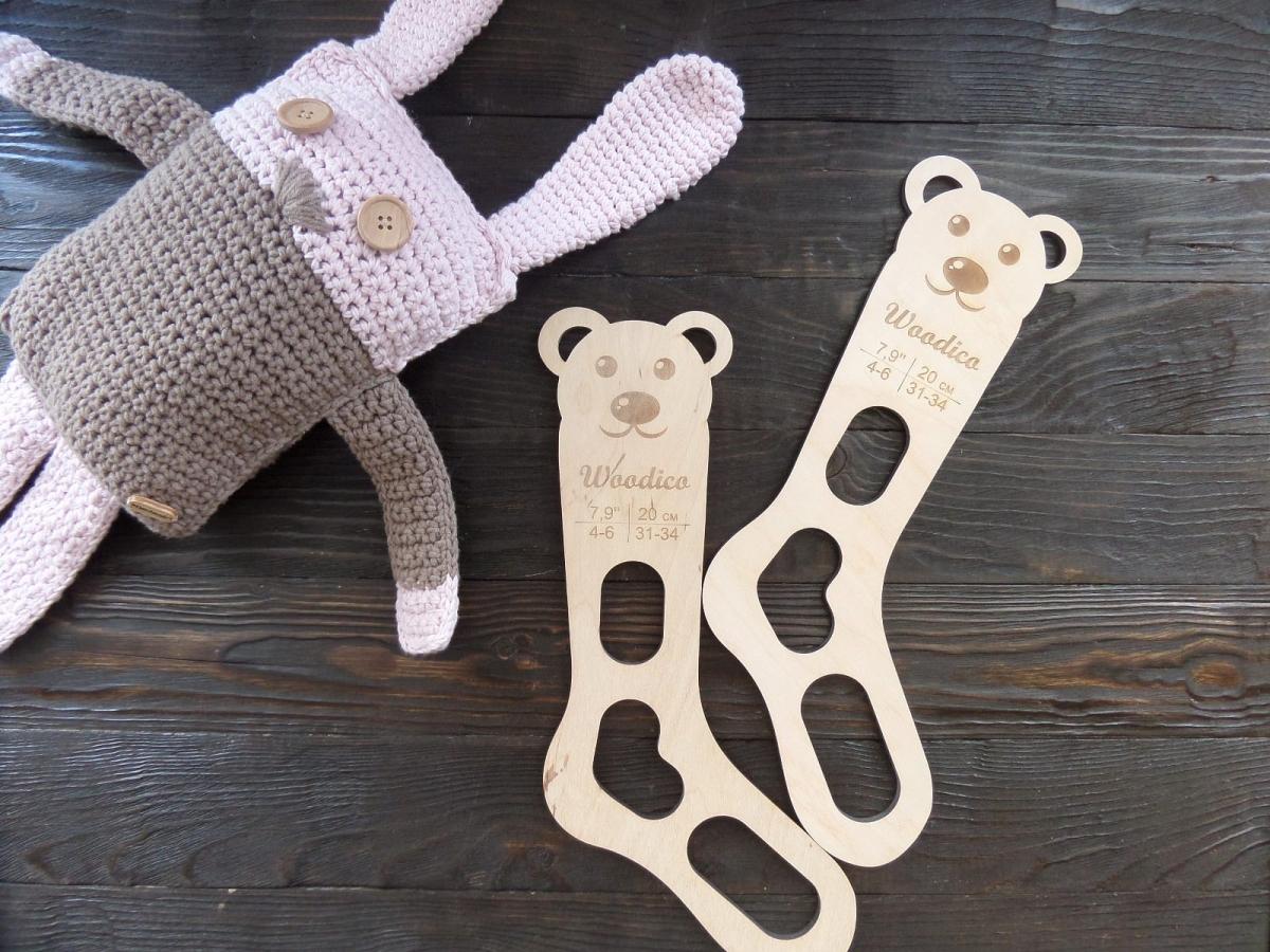 woodico.pro 32 1200x900 - Wooden baby sock blockers / Teddy bear