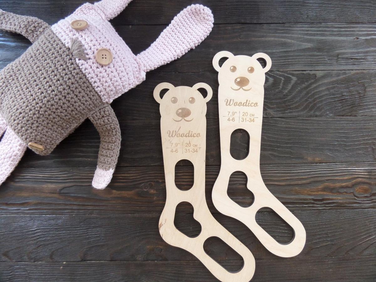 woodico.pro 33 1200x900 - Wooden baby sock blockers / Teddy bear