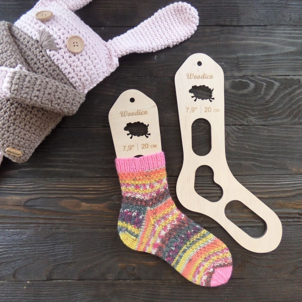 woodico.pro 35 600x600 - Wooden baby sock blockers / Sheep