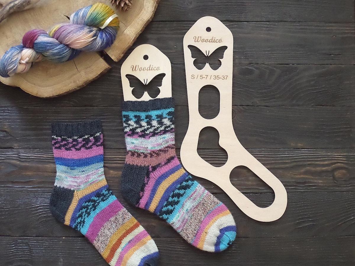 woodico.pro 4 1200x900 - Wooden sock blockers / Butterfly