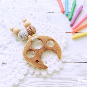 Nursing/teething necklace with wooden toy / 009 / Jellyfish - woodico.pro 55 300x300