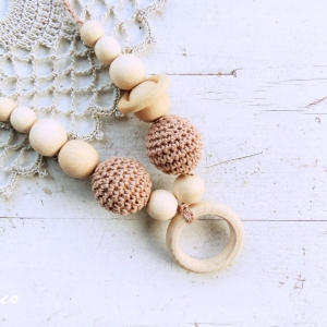 Nursing/teething necklace with a ring / 015 - woodico.pro nursing teething necklace with a ring 015 28 300x300