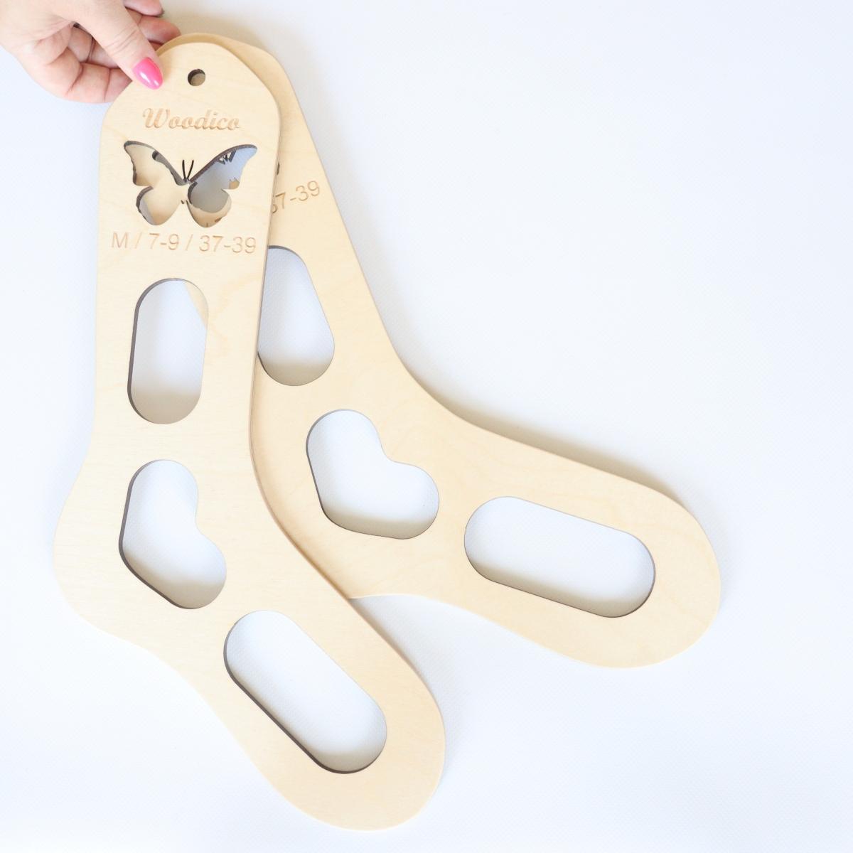woodico.pro wooden sock blockers butterfly 9 1200x1200 - Wooden sock blockers / Butterfly