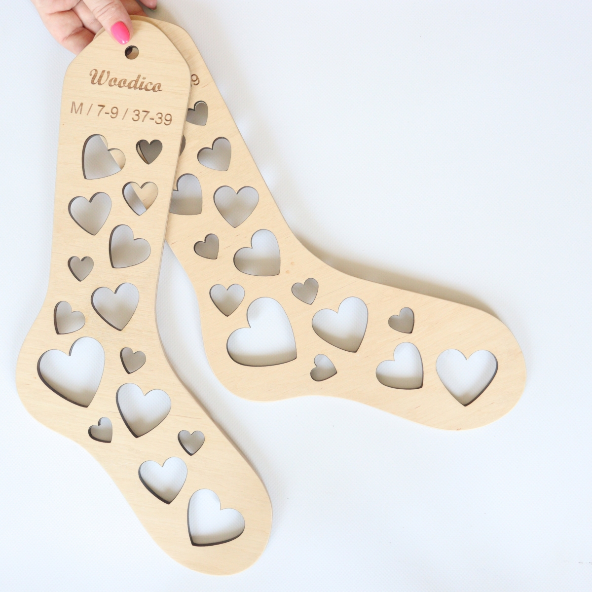 woodico.pro wooden sock blockers hearts 11 1200x1200 - Wooden sock blockers / Hearts