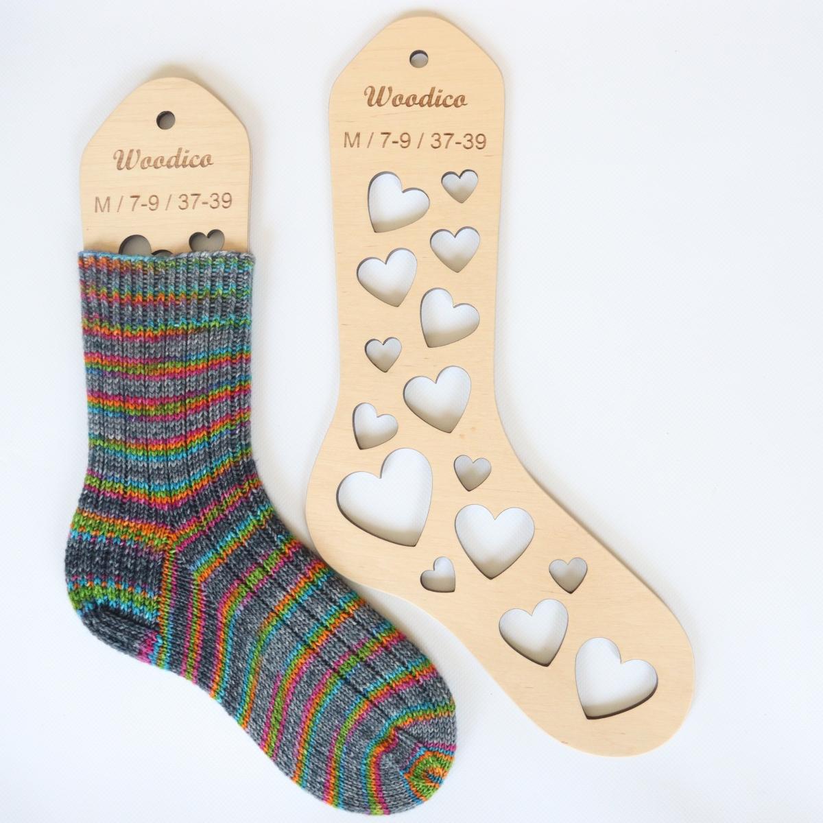 woodico.pro wooden sock blockers hearts 9 1200x1200 - Wooden sock blockers / Hearts