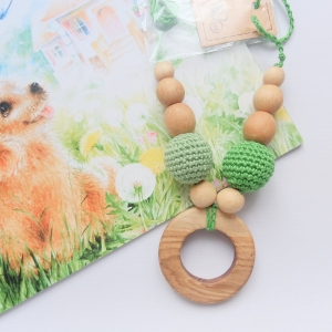 Nursing/teething necklace with wooden toy / 042 / Ring - woodico.pro 33 300x300