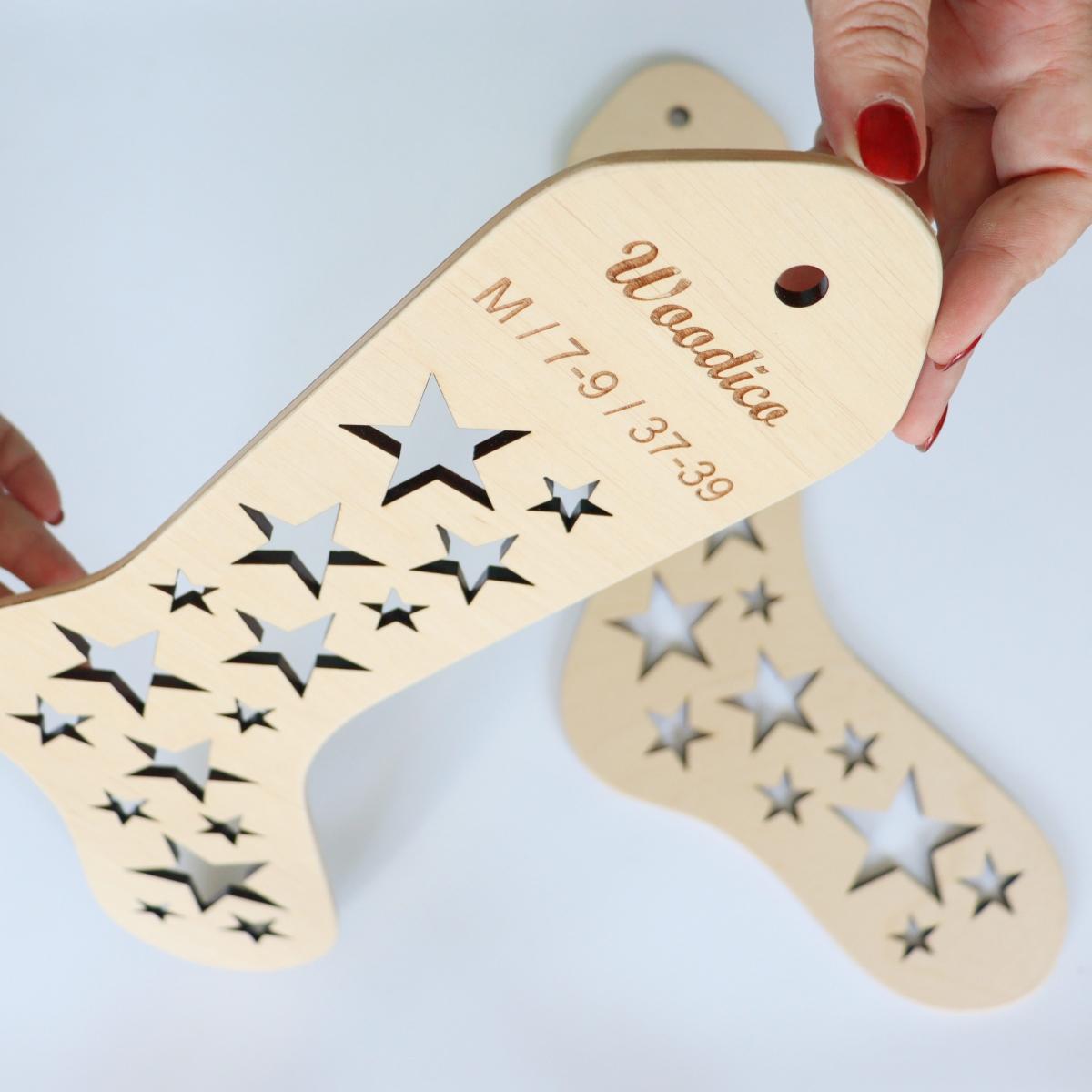 woodico.pro wooden sock blockers stars 5 1200x1200 - Wooden sock blockers / Stars