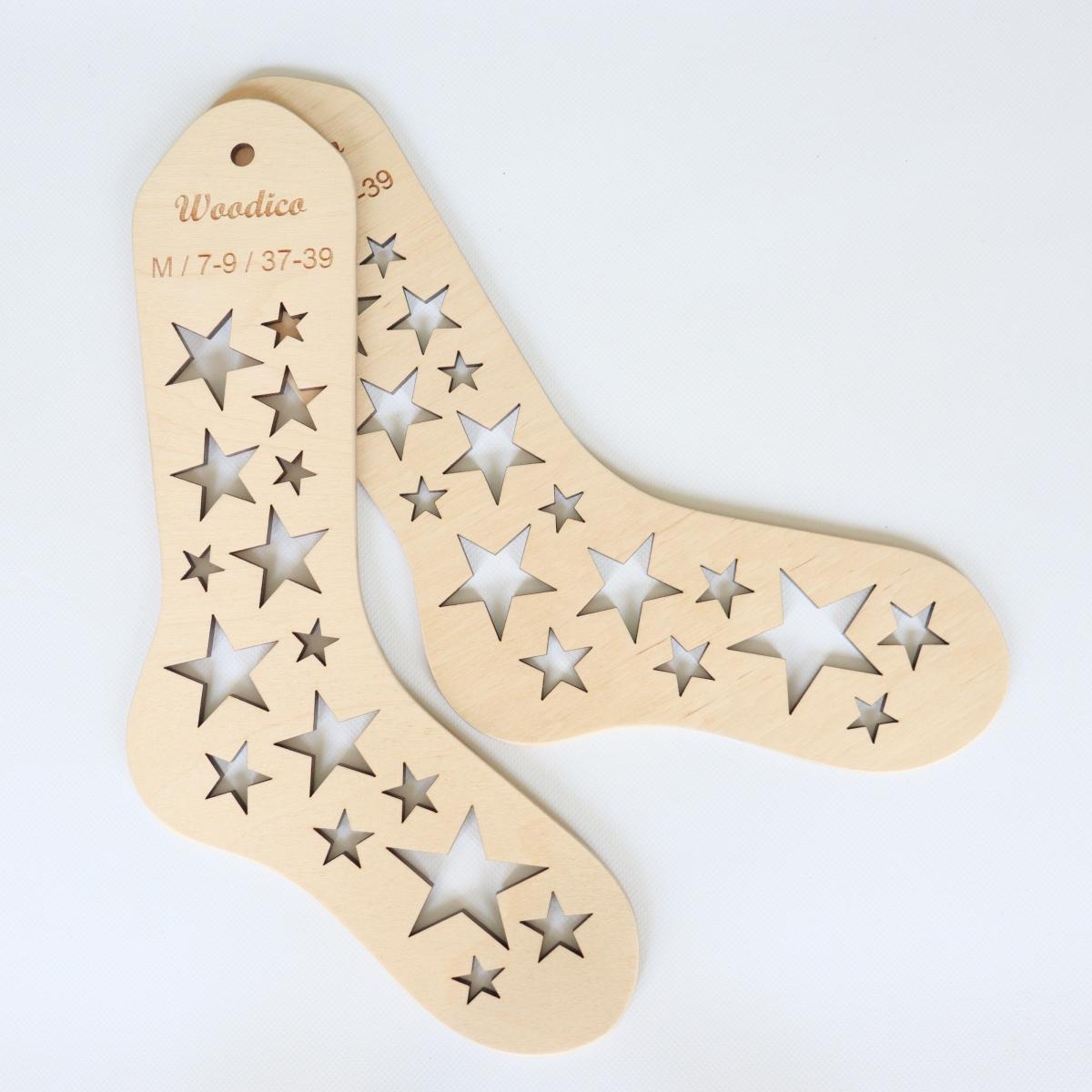woodico.pro wooden sock blockers stars 7 1200x1200 - Wooden sock blockers / Stars
