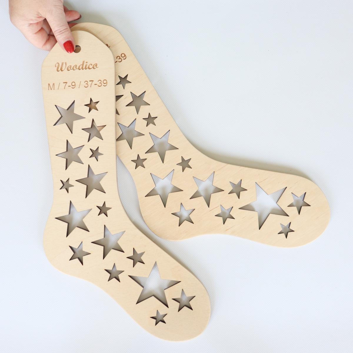 woodico.pro wooden sock blockers stars 8 1200x1200 - Wooden sock blockers / Stars