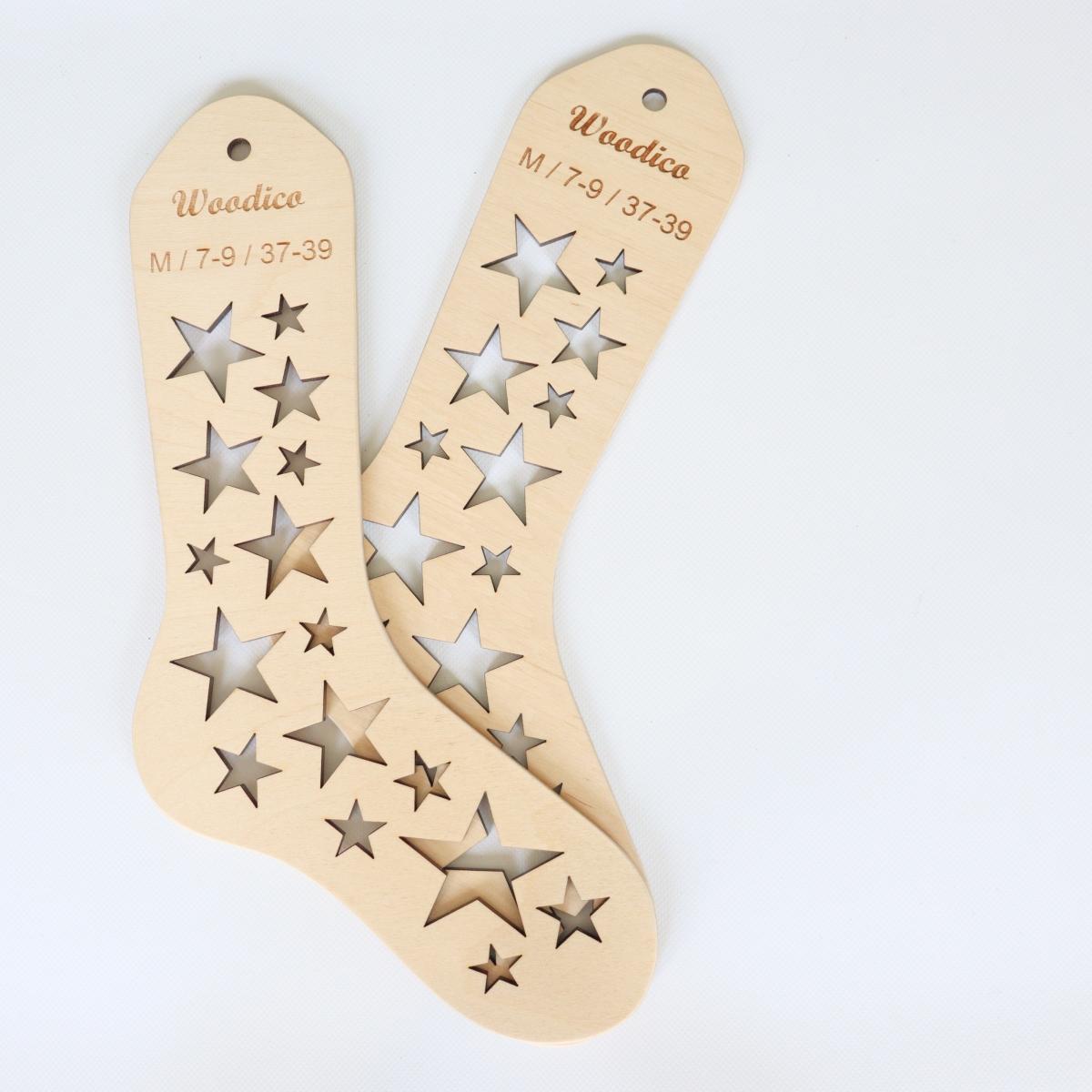 woodico.pro wooden sock blockers stars 9 1200x1200 - Wooden sock blockers / Stars