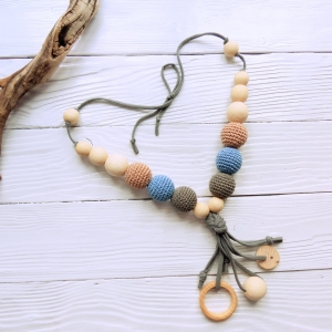 New products in shop - Nursing/teething necklace with tassel - woodico.pro nursing teething necklace with tassel 047 grey 300x300