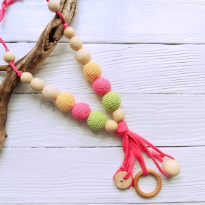 New products in shop - Nursing/teething necklace with tassel - woodico.pro nursing teething necklace with tassel 047 pink 3 300x300