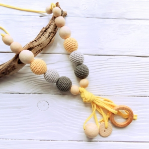 New products in shop - Nursing/teething necklace with tassel - woodico.pro nursing teething necklace with tassel 047 yellow 300x300
