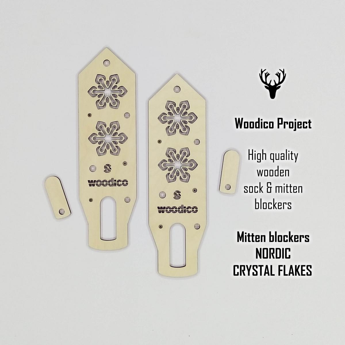 woodico.pro wooden mitten blockers crystal flakes 1200x1200 - Wooden mitten blockers / Nordic Crystal Flakes