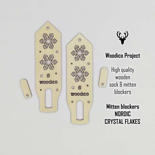 woodico.pro wooden mitten blockers crystal flakes 600x600 - Wooden mitten blockers / Nordic Crystal Flakes