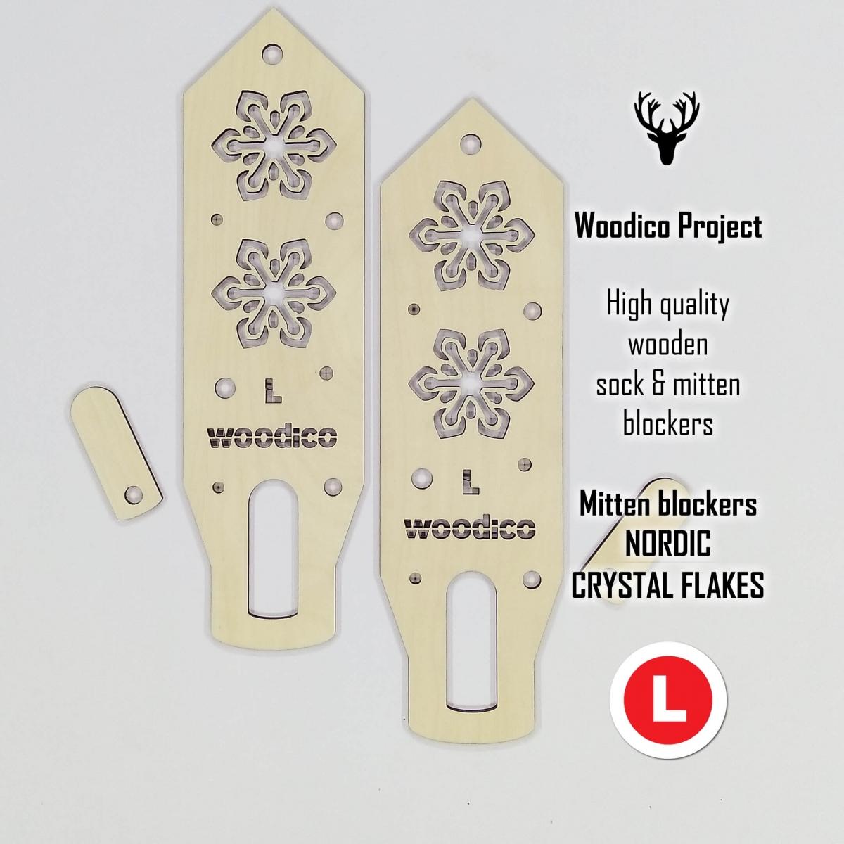 woodico.pro wooden mitten blockers crystal flakes 7 1200x1200 - Wooden mitten blockers / Nordic Crystal Flakes