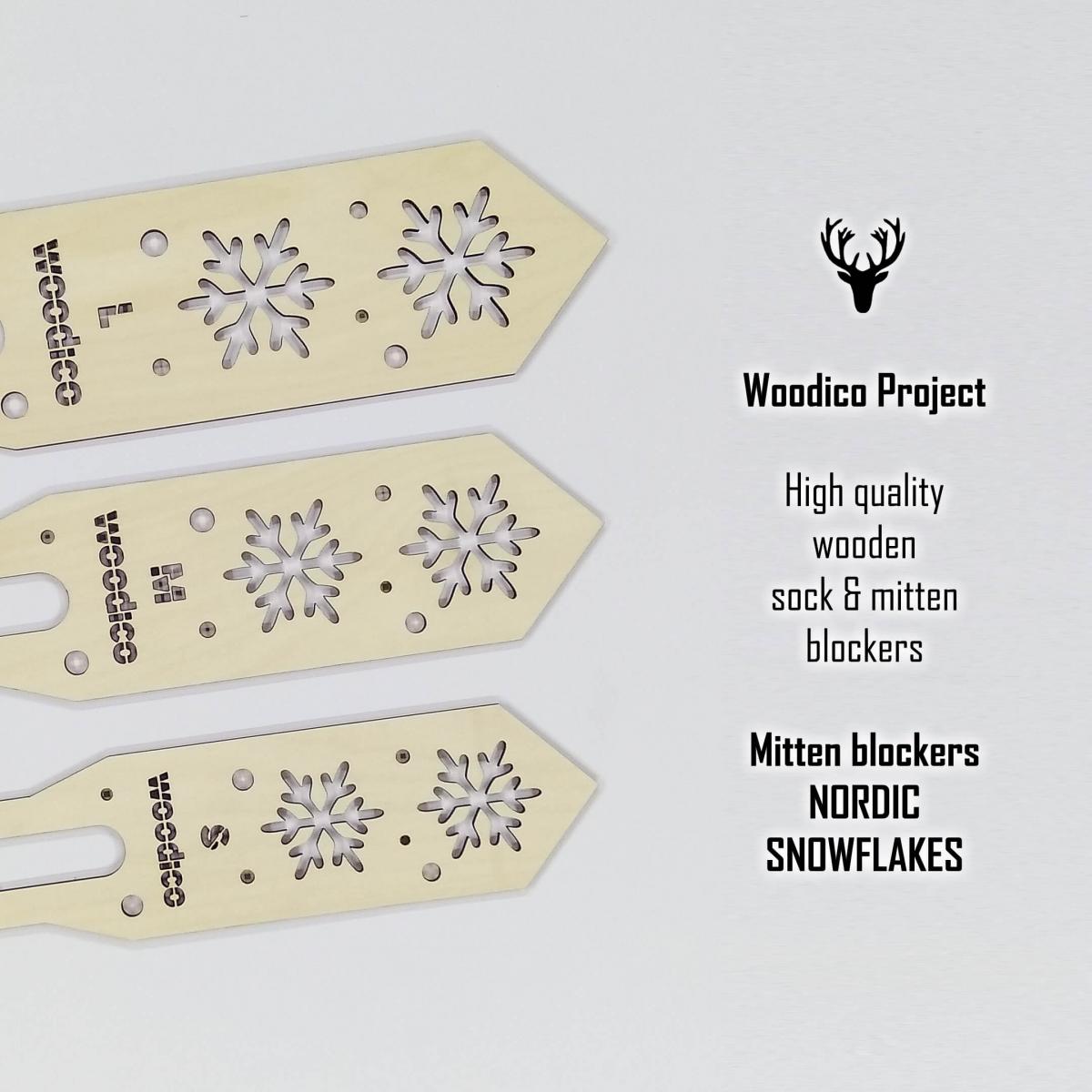 woodico.pro wooden mitten blockers nordic snowflakes 1 1200x1200 - Wooden mitten blockers / Nordic Snowflakes