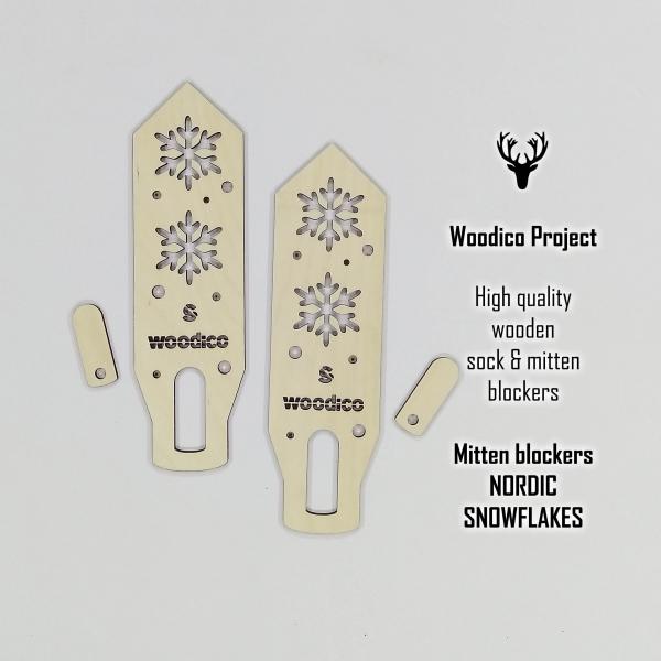 woodico.pro wooden mitten blockers nordic snowflakes 600x600 - Wooden mitten blockers / Nordic Snowflakes