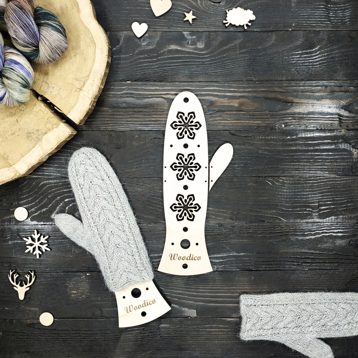 woodico.pro wooden mitten blockers crystal flakes 1200x1200 - Wooden mitten blockers / Crystal Flakes