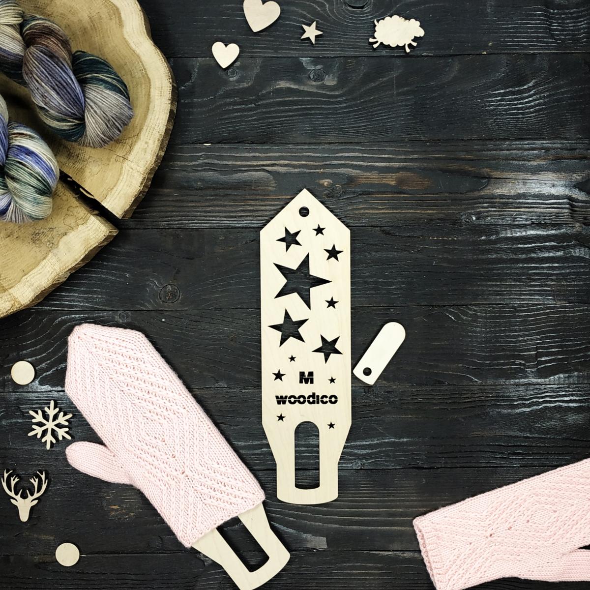woodico.pro wooden mitten blockers nordic stars 1200x1200 - Wooden mitten blockers / Nordic Stars