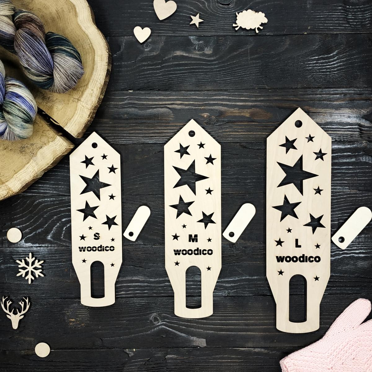 woodico.pro wooden mitten blockers nordic stars 2 1200x1200 - Wooden mitten blockers / Nordic Stars