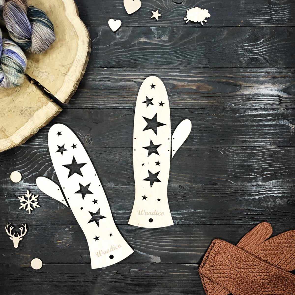 woodico.pro wooden mitten blockers stars 1 1200x1200 - Wooden mitten blockers / Stars