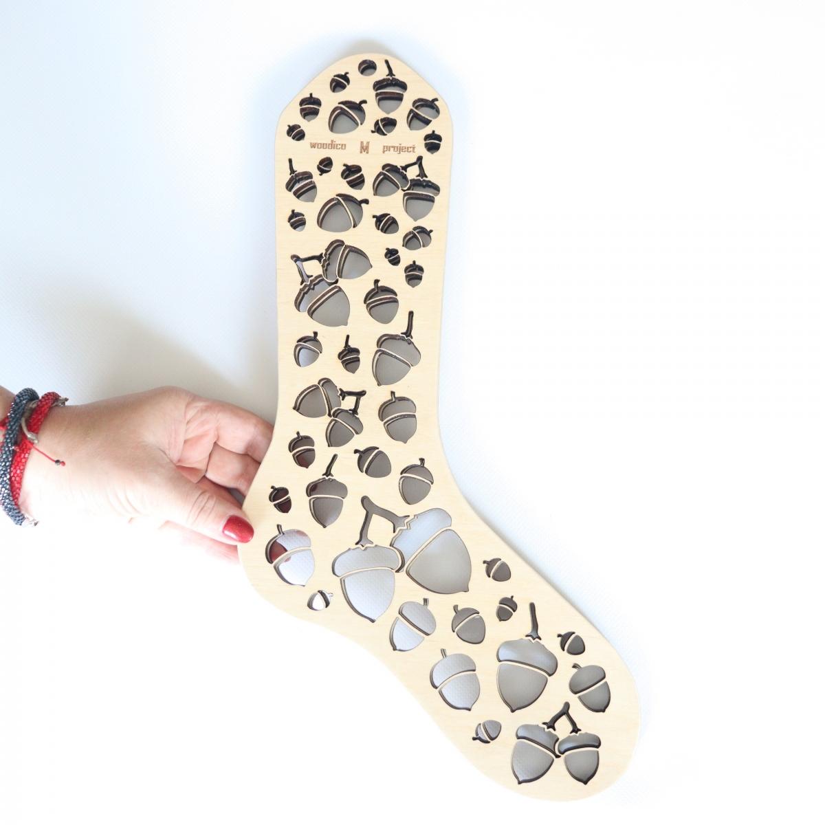 woodico.pro wooden sock blockers acorns 3 1200x1200 - Wooden sock blockers / Acorns