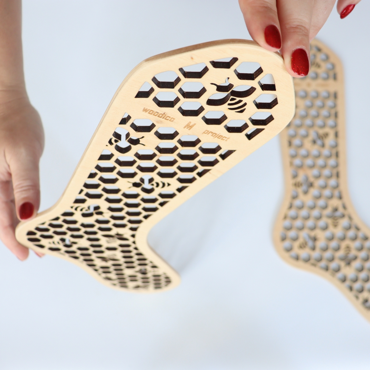 woodico.pro wooden sock blockers hooneycomb 2 1200x1200 - Wooden sock blockers / Honeycomb