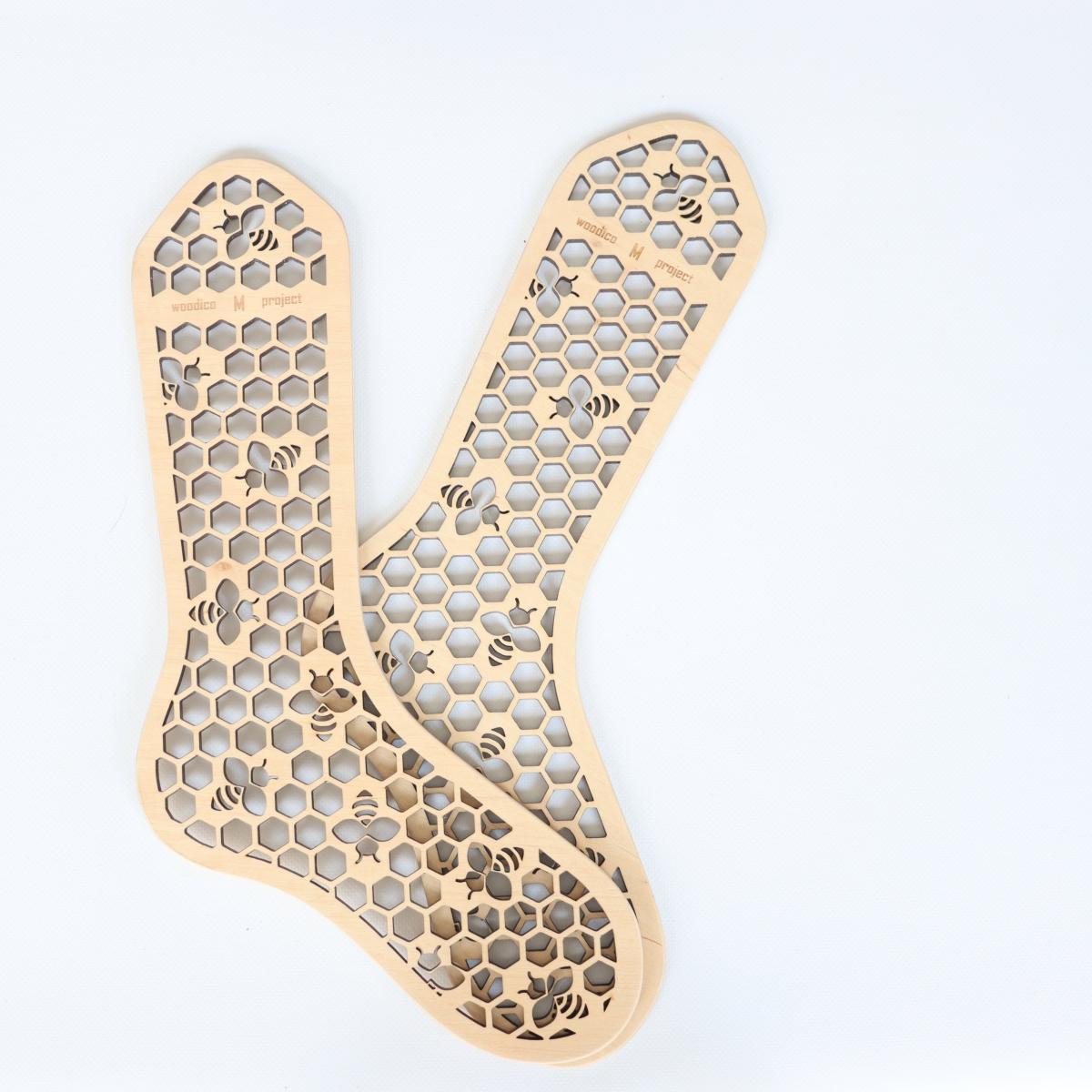 woodico.pro wooden sock blockers hooneycomb 4 1200x1200 - Wooden sock blockers / Honeycomb