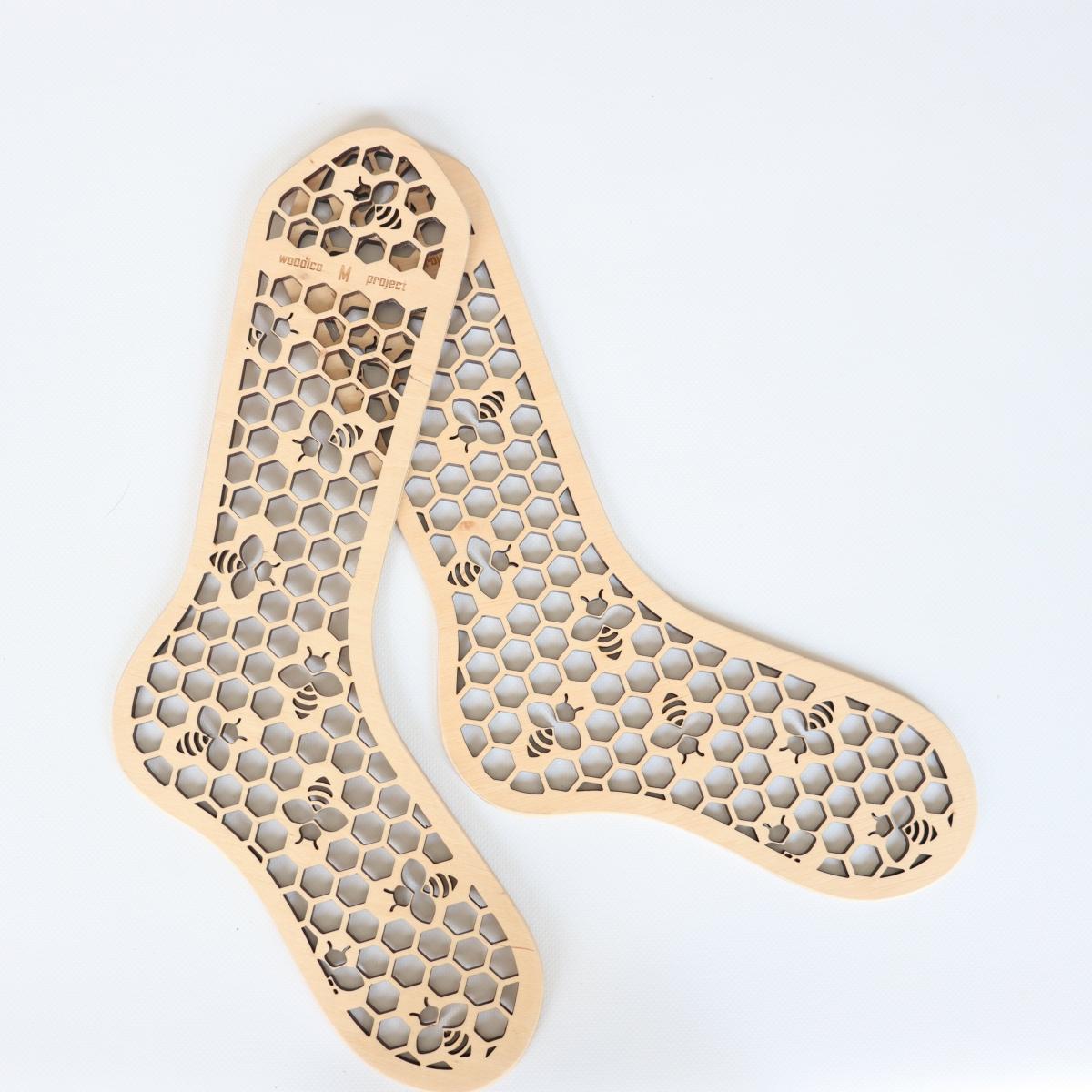woodico.pro wooden sock blockers hooneycomb 5 1200x1200 - Wooden sock blockers / Honeycomb