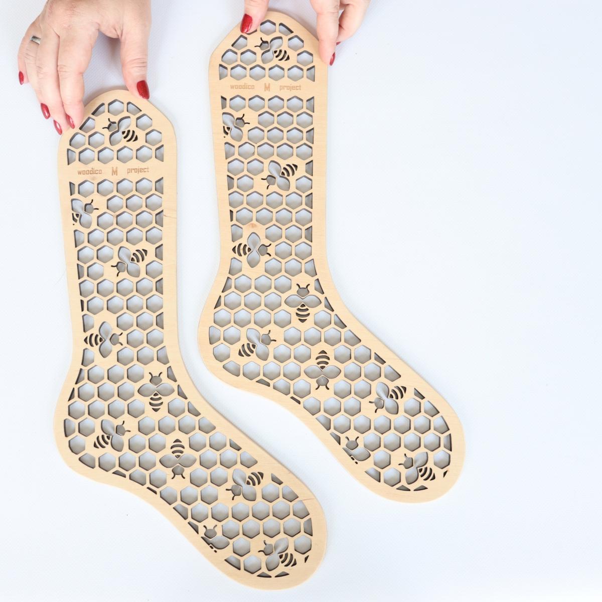 woodico.pro wooden sock blockers hooneycomb 6 1200x1200 - Wooden sock blockers / Honeycomb