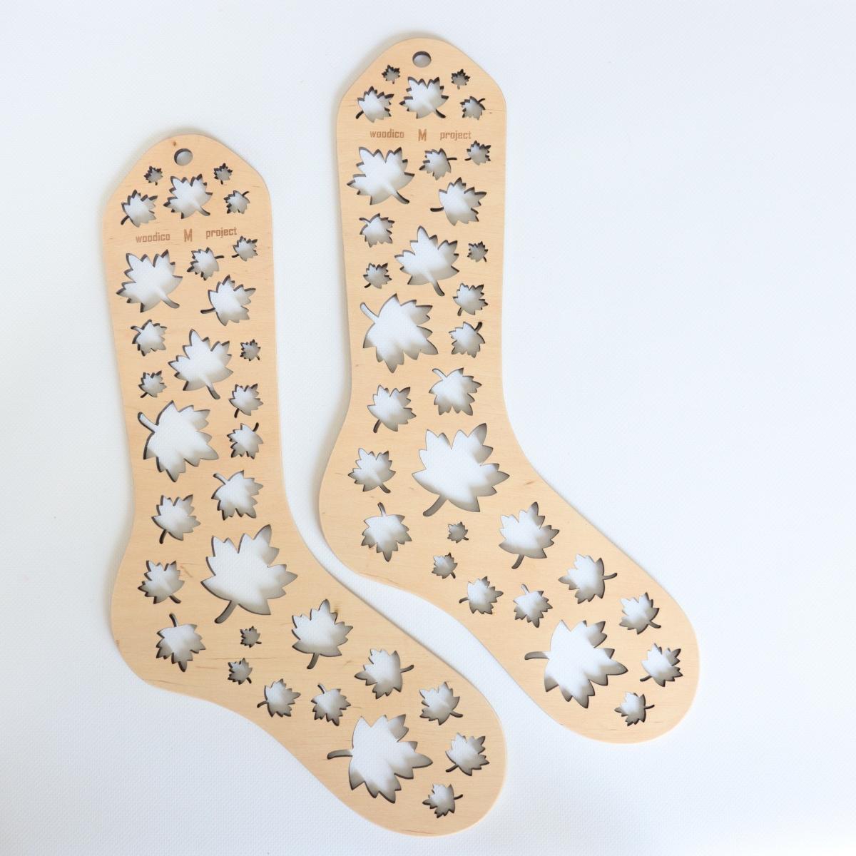 woodico.pro wooden sock blockers maple leaf 1 1200x1200 - Wooden sock blockers / Maple-Leaf