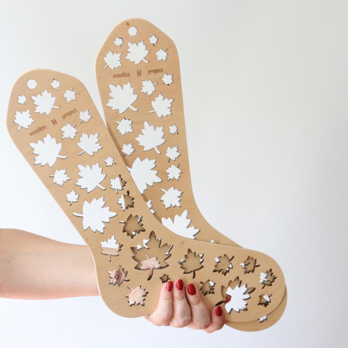 woodico.pro wooden sock blockers maple leaf 7 1200x1200 - Wooden sock blockers / Maple-Leaf