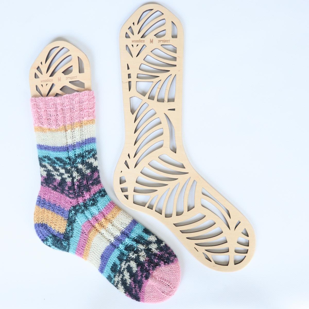 woodico.pro wooden sock blockers monstera 1200x1200 - Wooden sock blockers / Monstera