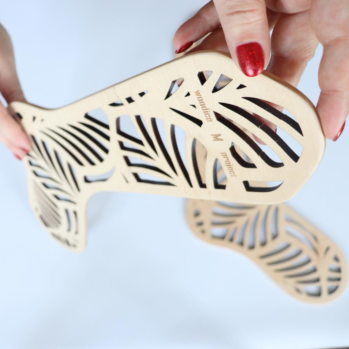 woodico.pro wooden sock blockers monstera 3 1200x1200 - Wooden sock blockers / Monstera