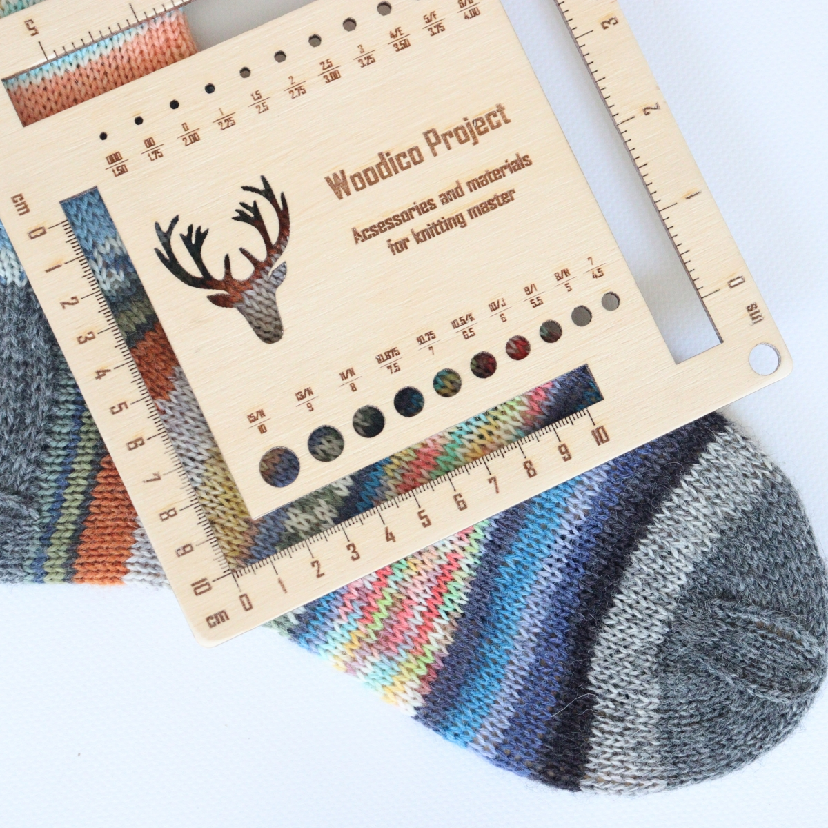 woodico.pro knitmetr 1200x1200 - Knitting needle gauge and ruler / Knitmetr